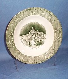 The Old Curiosity Shop green 8.5 inch soup bowl