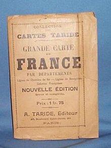 Grande Carte de France par Departements Lignes de Chemins de fer - Lignes de Navigation Colonies Francaises