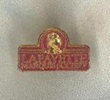 Lafayette Marquis Society pinback, Lafayette College