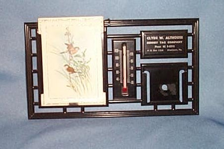 Clyde W. Althouse, Allentown PA tin thermometer
