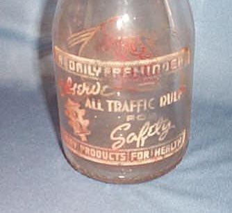 Moyer Dairy Co. quart milk bottle