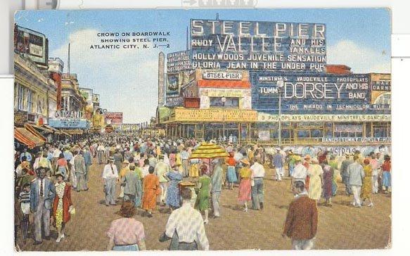 Steel Pier, Atlantic City,  NJ color postcard