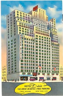 Hotel Dixie, Times Square, New York City color postcard