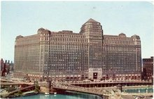 Merchandise Mart, Chicago color photo postcard