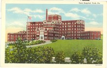 York Hospital, York PA color postcard