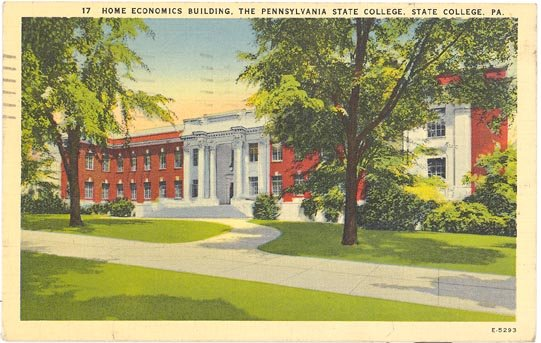 Home Economics Building Pennsylvania State College State