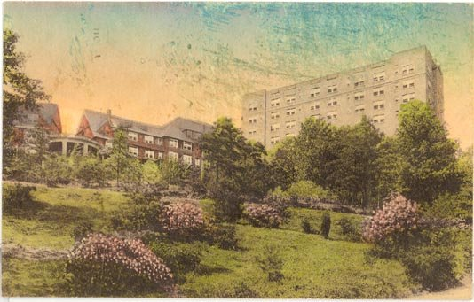 Pocono Manor Inn, Pocono Manor, PA color postcard
