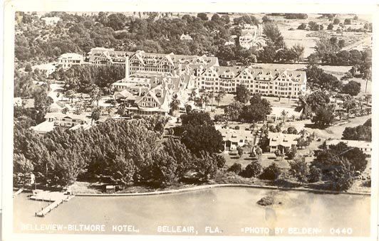 Belleview - Biltmore Hotel, Belleair,  Florida black/white photo  postcard