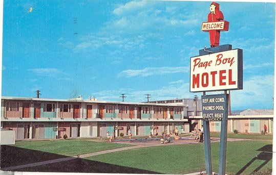 Page Boy Motel, Page, Arizona color  photo postcard