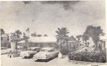 Swiss Colony, Daytona Beach, Florida black/white photo postcard