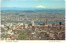 Portland, Oregon aerial color postcard