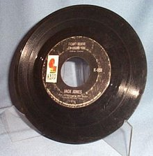 I Can't Believe I'm Losing You by Jack Jones 45 RPM