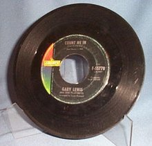 Count Me In by Gary Lewis and the Playboys 45 RPM