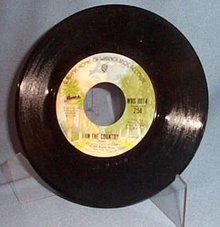 In the Country/ Tin Man by America 45 RPM