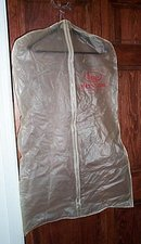 Hess's Men's Store, Allentown PA plastic garment bag and hanger