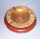 Bloomingdale's brass Zodiac ashtray