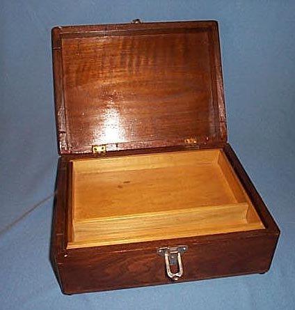Walnut bureau or jewelry box
