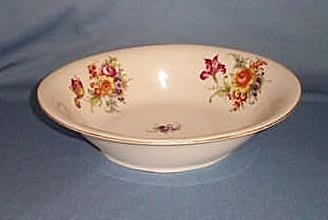 Victoria Czechoslovakia china oval vegetable bowl