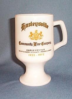 Harleysville  (PA) Community Fire Co. milk glass mug