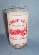 Fairmount Fire Co. Lansdale PA Fireman's Parade glass