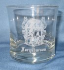 Farquharson Coat of Arms embossed whiskey glass