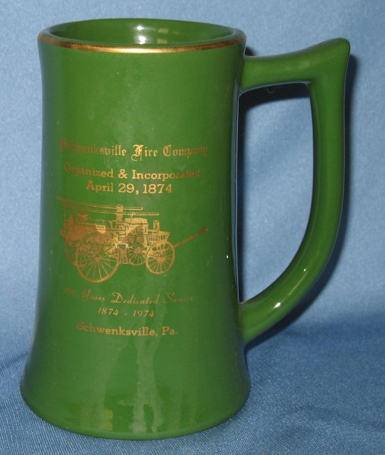 Schwenksville (PA) Fire Company 100 Year Dedicated Service ceramic mug