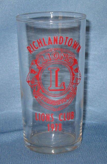 Richlandtown (PA) Lions Club tumbler