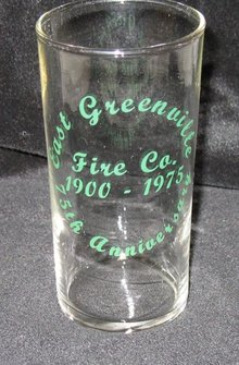 East Greenville (PA) Vol. Fire Co. 75th Anniversary tumbler