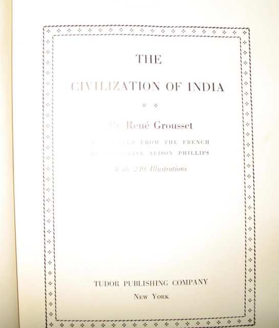 The Civilization of India by Rene Grousset