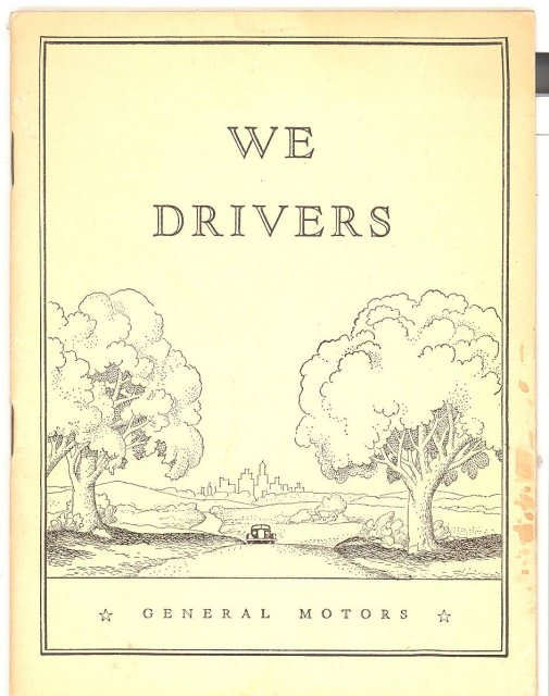 We Drivers booklet from General Motors