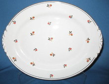 Homer Laughlin Nautilus Cardinal oval platter