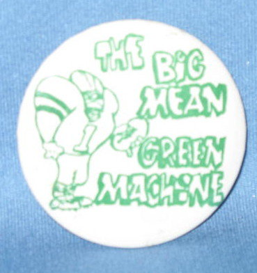 The Big Green Machine football pin