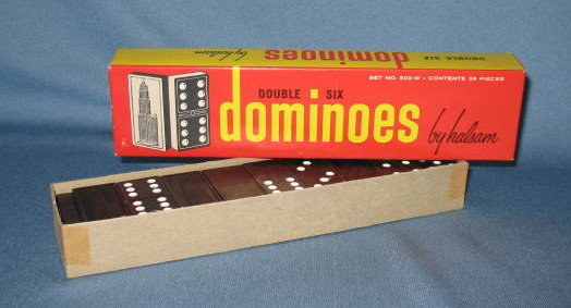 Double Six Dominoes by Halsam in box