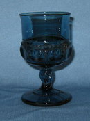 King's Crown Colonial Blue juice goblet