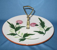 Stangl Thistle center-handle serving plate