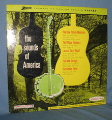 Zenith presents The Sounds of America 33 LP record