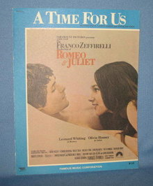 A Time for Us from Romeo and Juliet sheet music