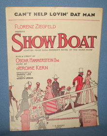 Can't Help Lovin' Dat Man from Showboat sheet music