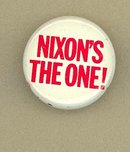 Nixon's The One pinback