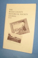 The Bucks County Historical Society Journal, Fall, 1973