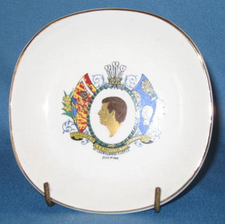 Investiture of H. R. H. Prince Charles as Prince of Wales at Caernarvon Castle, July 1, 1969 commemorative plate