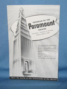 Paramount Theatre (NY) program