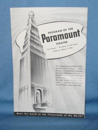 Paramount Theatre (NY) program