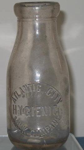 Atlantic City Hygienic Milk Company one pint milk bottle