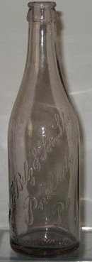 John F. Betz & Son Ltd., Philadelphia PA  embossed beverage bottle