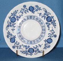 Enoch Wedgwood (Tunstall) Ltd. Blue Heritage pattern saucer