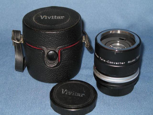 Vivitar Auto 3x Custom Tele-Converter Model 3X-1 and case