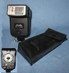 Minolta auto 128 photoflash unit