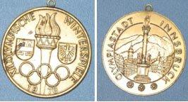 1976 XII Olympische Winterspiele medallion