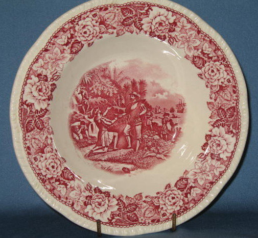 Homer Laughlin Historical America rimmed soup bowl